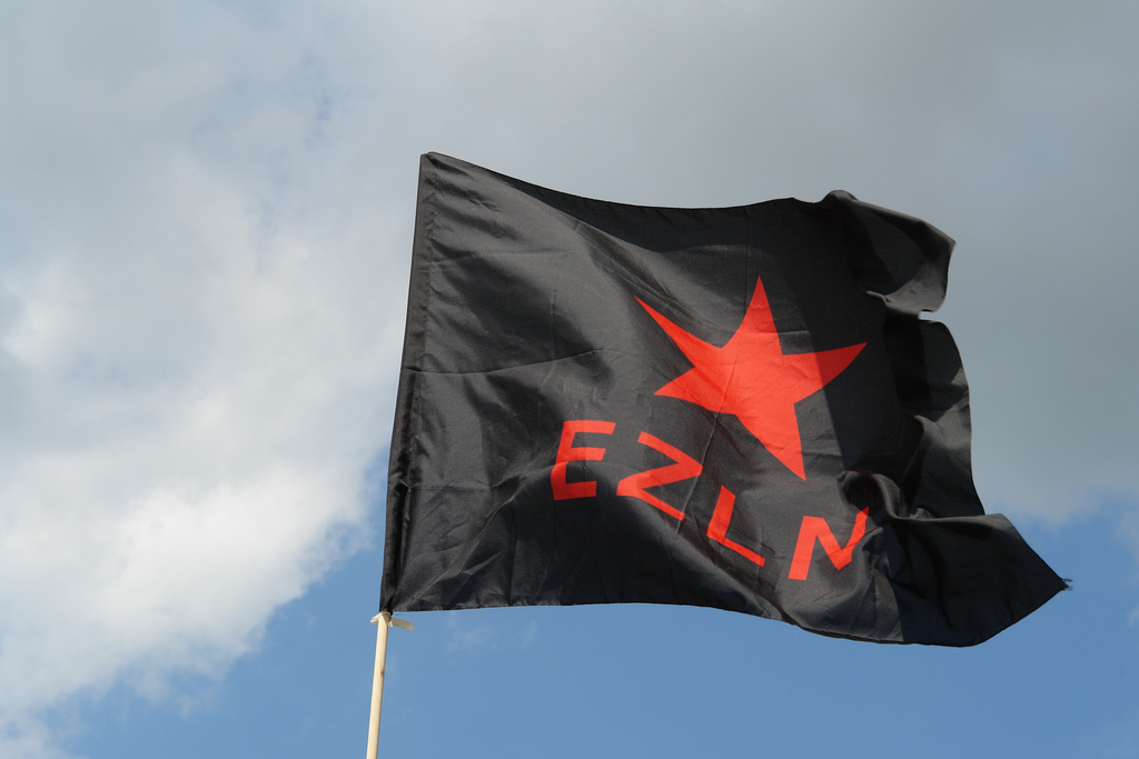 EZLN flag seven resist